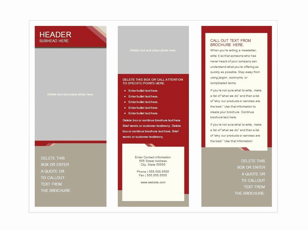 Booklet Template Free Download Luxury 31 Free Brochure Templates Word Pdf Template Lab