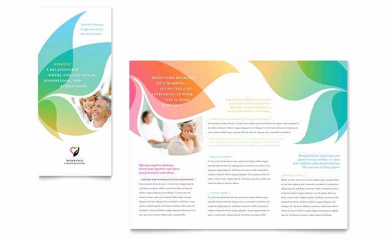Booklet Template Free Download Luxury Marriage Counseling Tri Fold Brochure Template Word