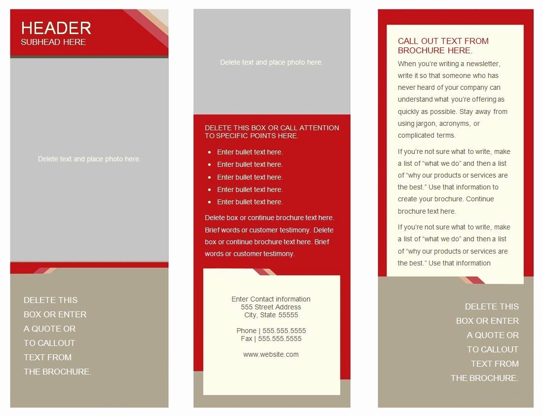 Booklet Template Google Docs Awesome 6 Panel Brochure Template Google Docs