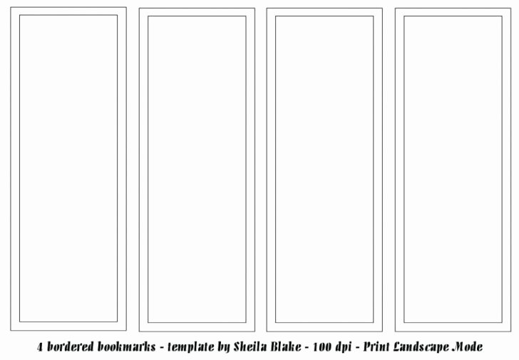 Bookmark Template for Word Awesome Blank Bookmark Template Free