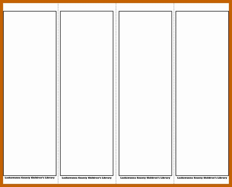 Bookmark Template for Word Beautiful 10 11 Bookmark Template Word