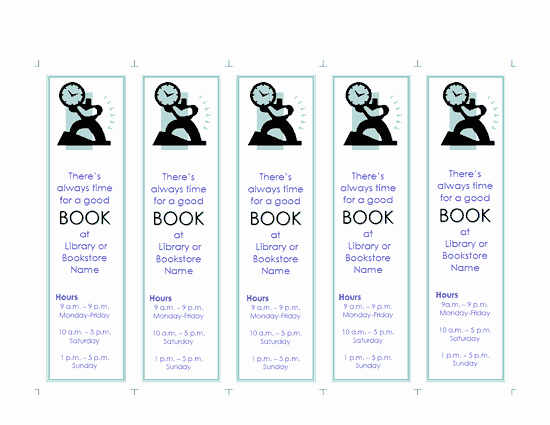 Bookmark Template for Word Best Of Bookmark Template Word Unique