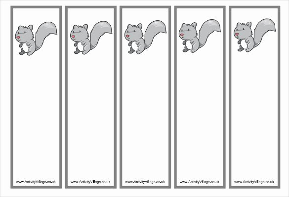 Bookmark Template for Word Best Of Free Bookmark Template – 12 Free Printable Word Pdf