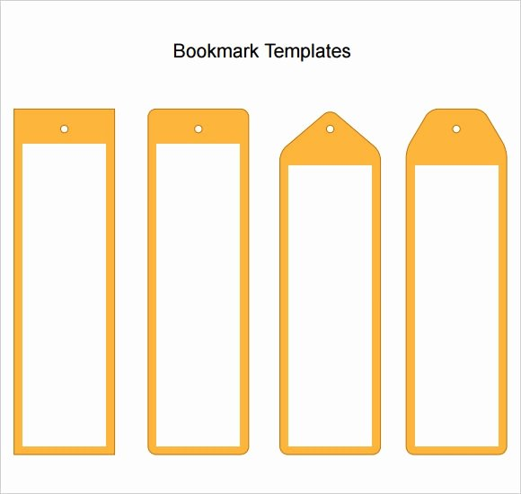 Bookmark Template for Word Elegant 7 Sample Blank Bookmarks