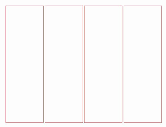 Bookmark Template for Word Elegant Blank Bookmark Template for Word