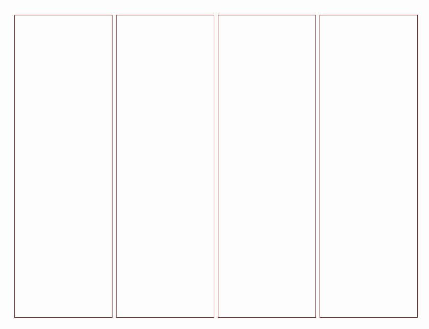 Bookmark Template for Word Unique Blank Bookmark Template