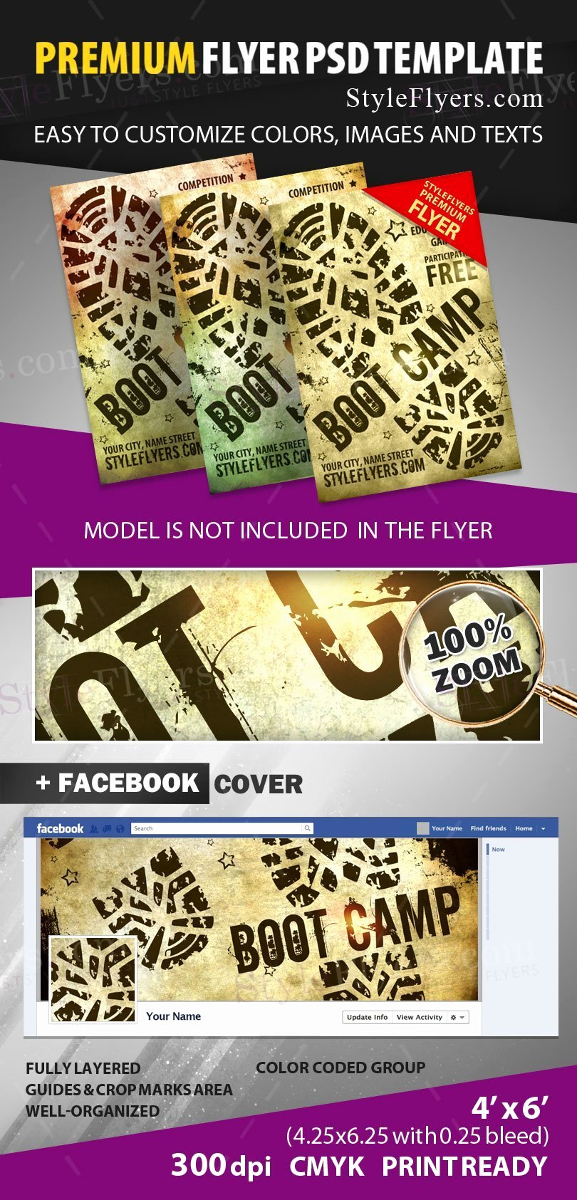 Boot Camp Flyer Template Beautiful Boot Camp Psd Flyer Template Styleflyers