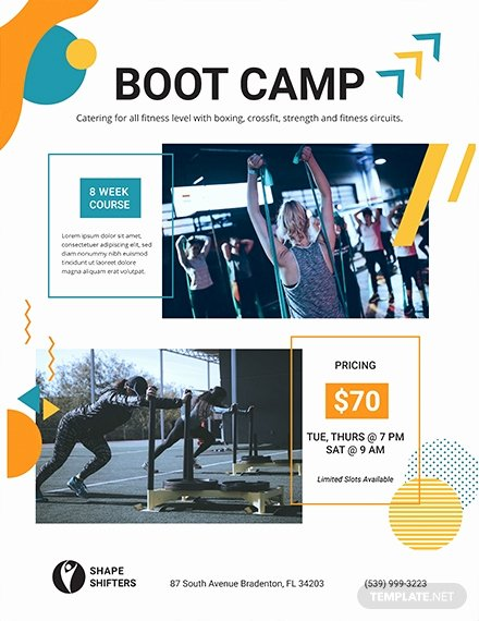 Boot Camp Flyer Template Elegant Free Fitness Boot Camp Flyer Template Download 675