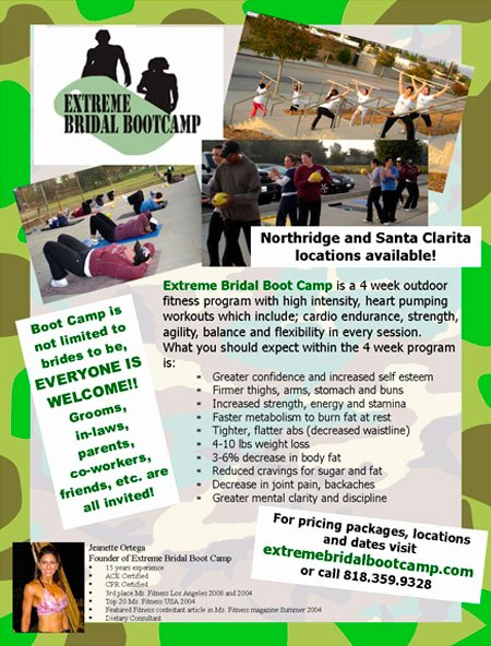 Boot Camp Flyer Template Elegant Jeanette ortega S Extreme Physical Fitness Bootcamp