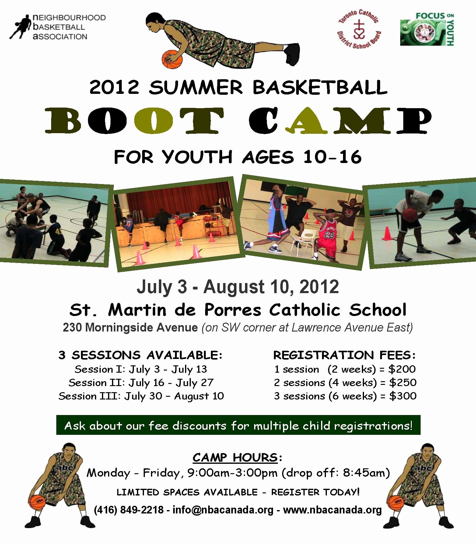 Boot Camp Flyer Template Elegant Scarborough Summer Basketball Camp