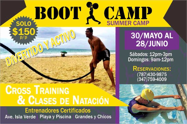 Boot Camp Flyer Template Fresh 43 Printable Fitness Flyers Psd Eps
