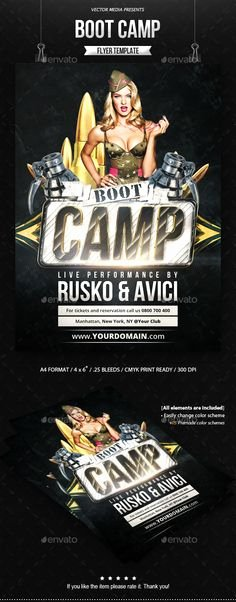 Boot Camp Flyer Template Lovely 1000 Images About Crossfit On Pinterest
