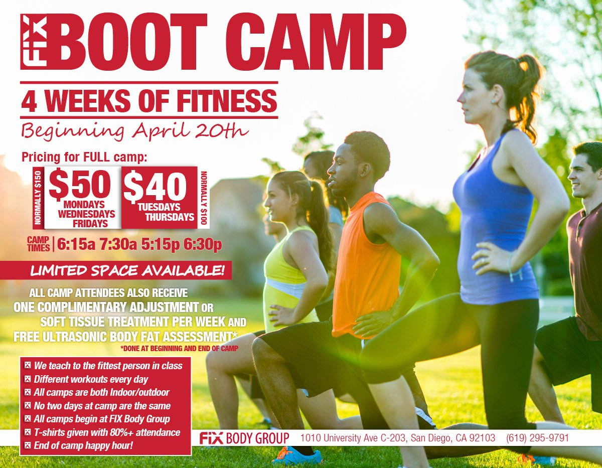 Boot Camp Flyer Template New Join Us for 4 Weeks Of Fitness Fix Boot Camp Fix Body Group