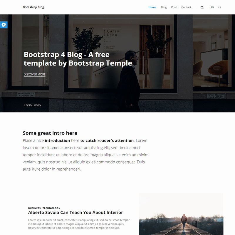 Bootstrap Blog Template Free Beautiful River Free Template Free Template