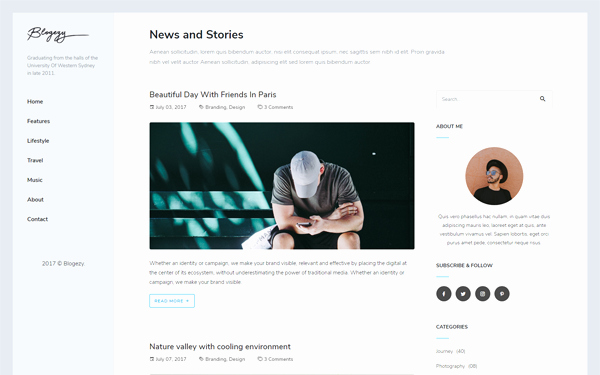 Bootstrap Blog Template Free Best Of Blogezy Bootstrap 4 Blog Template