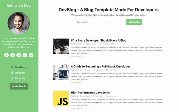 Bootstrap Blog Template Free Best Of Devblog Free Bootstrap 4 Blog Template for Developers