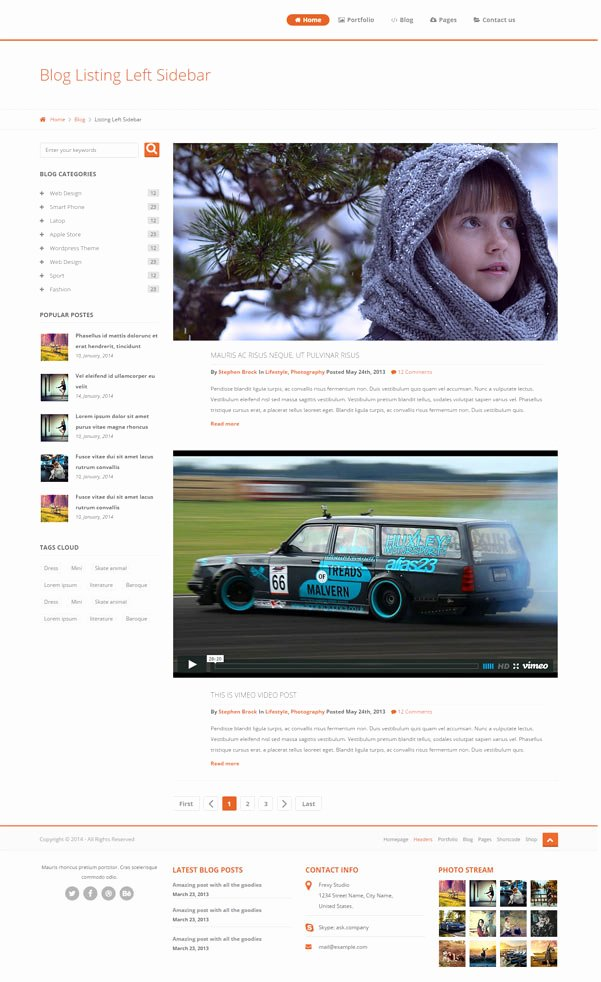 Bootstrap Blog Template Free Elegant 30 Bootstrap Website Templates Free Download