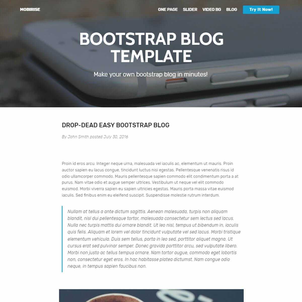 Bootstrap Blog Template Free Elegant Free Bootstrap Template 2018