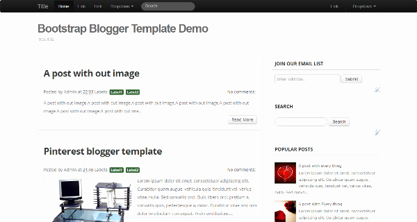 Bootstrap Blog Template Free Inspirational Bootstrap Blogger Template Responsive Template Using