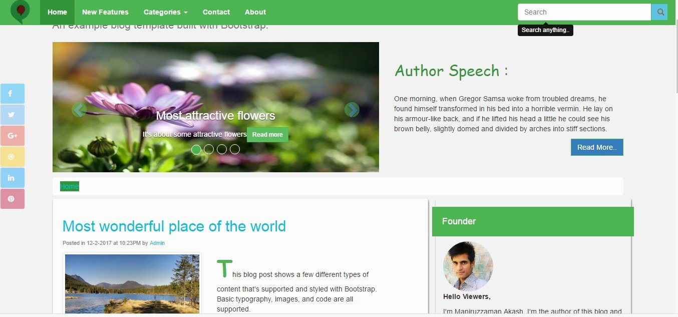 Bootstrap Blog Template Free Inspirational Download Two Sidebar and One Sidebar Free Blogging