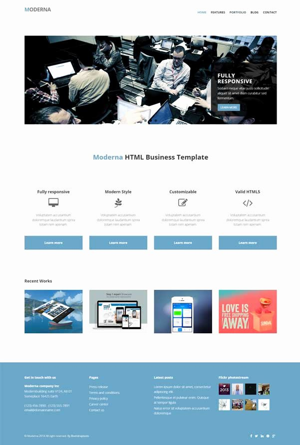 Bootstrap Blog Template Free Lovely 30 Bootstrap Website Templates Free Download