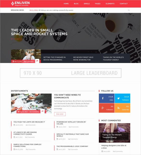 Bootstrap Blog Template Free Lovely 35 Bootstrap Blog themes & Templates