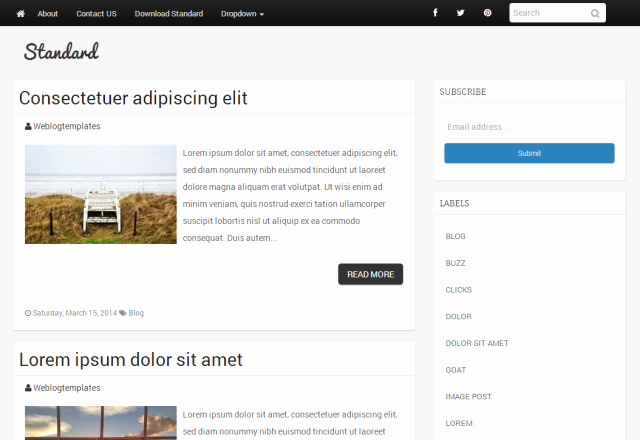 Bootstrap Blog Template Free Lovely Bootstrap Blogger Templates