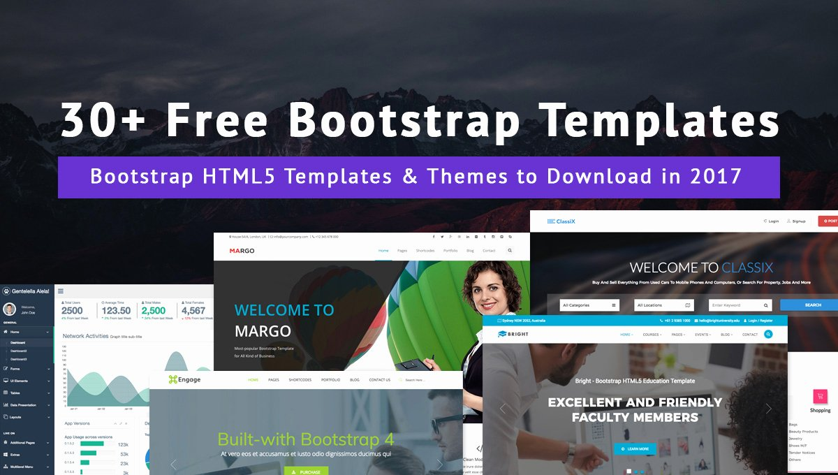 Bootstrap Blog Template Free Luxury 30 Free Bootstrap Templates & themes to Download In 2017
