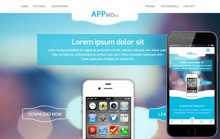 Bootstrap Mobile App Template Lovely Appmo V2 A Mobile App Based Flat Bootstrap Responsive Web