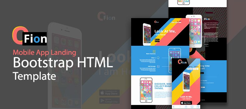 Bootstrap Mobile App Template Luxury Fion – Bootstrap Mobile App Landing HTML Template