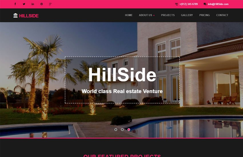hillside real estate bootstrap responsive web template