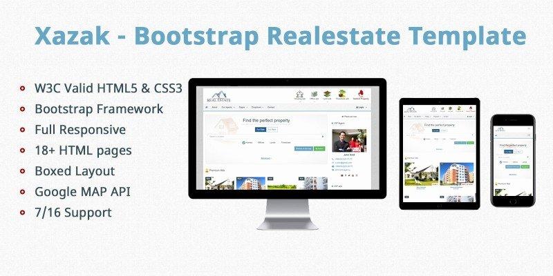 Bootstrap Real Estate Template Elegant Xazak Bootstrap Real Estate Template HTML E Merce