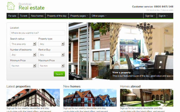 Bootstrap Real Estate Template Fresh Bootstrap Real Estate Other