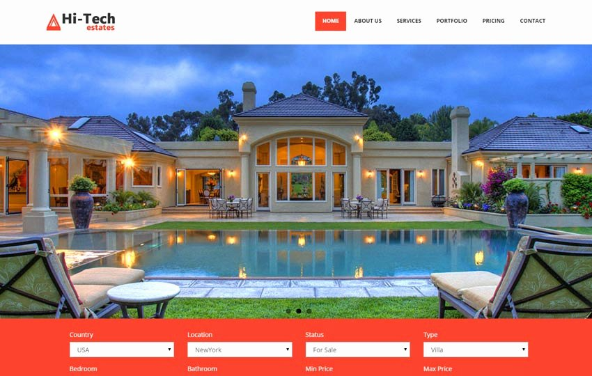 Bootstrap Real Estate Template Fresh Real Estate Free Bootstrap Website Template Webthemez