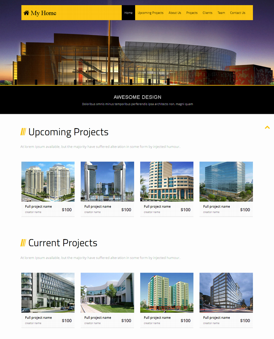 Bootstrap Real Estate Template Inspirational 10 Best Free Website HTML5 Templates – January 2015