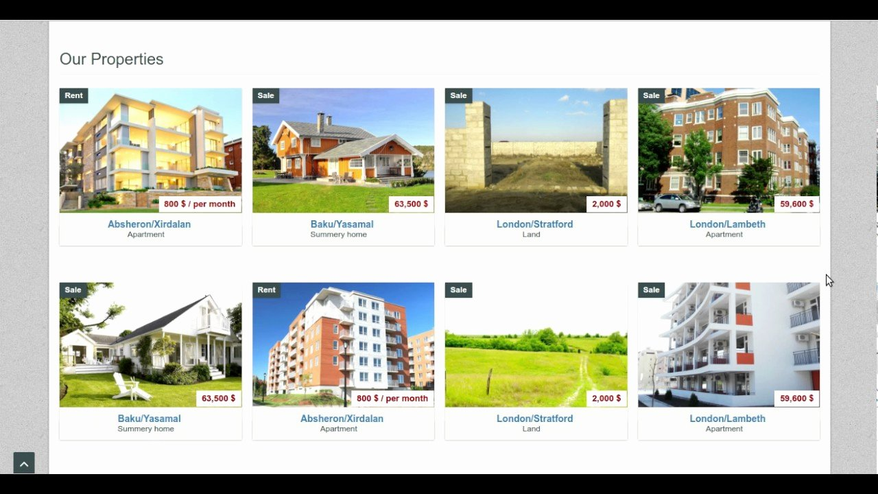 Bootstrap Real Estate Template Inspirational Bootstrap Real Estate Template