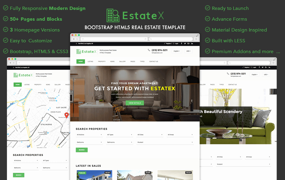 Bootstrap Real Estate Template Lovely 120 Best Free and Premium Bootstrap Website Templates Of 2019