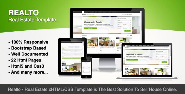 Bootstrap Real Estate Template Lovely top 20 HTML Templates for Real Estate Websites