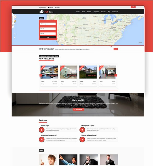 Bootstrap Real Estate Template New 20 Real Estate Bootstrap themes & Templates