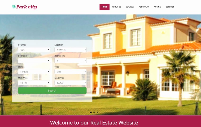 Bootstrap Real Estate Template New HTML Real Estate Responsive Template Webthemez