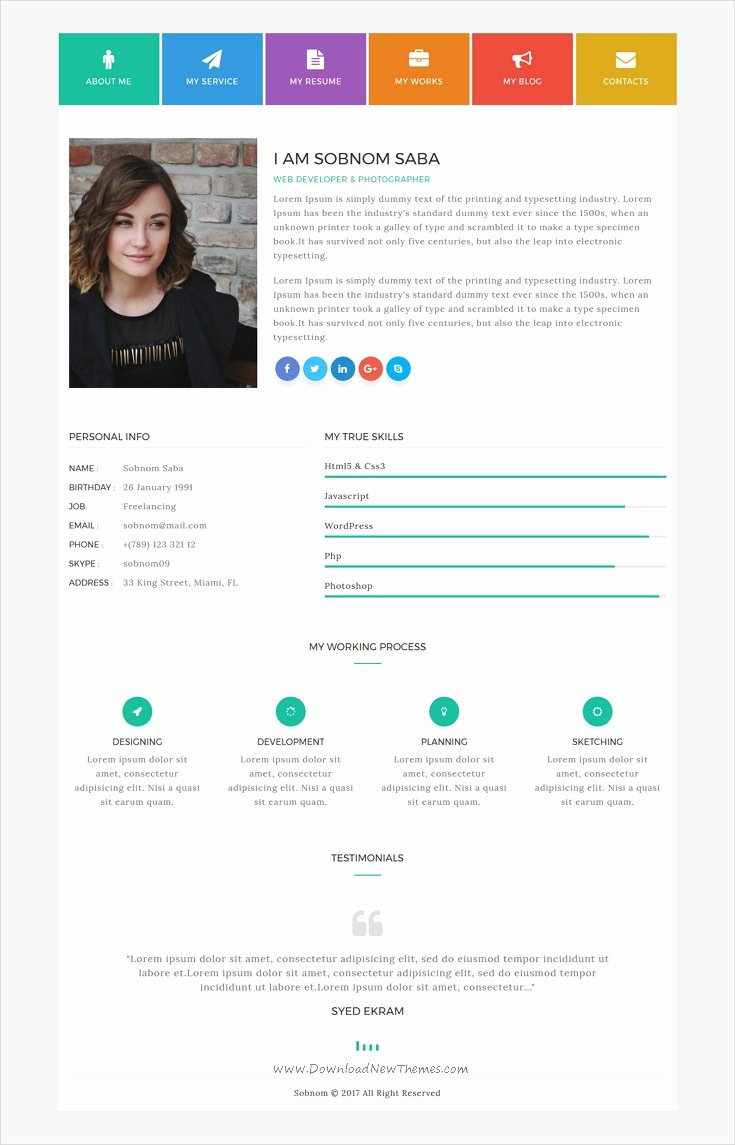 Bootstrap Resume Template Free Beautiful Bootstrap Resume Template Eezee Merce