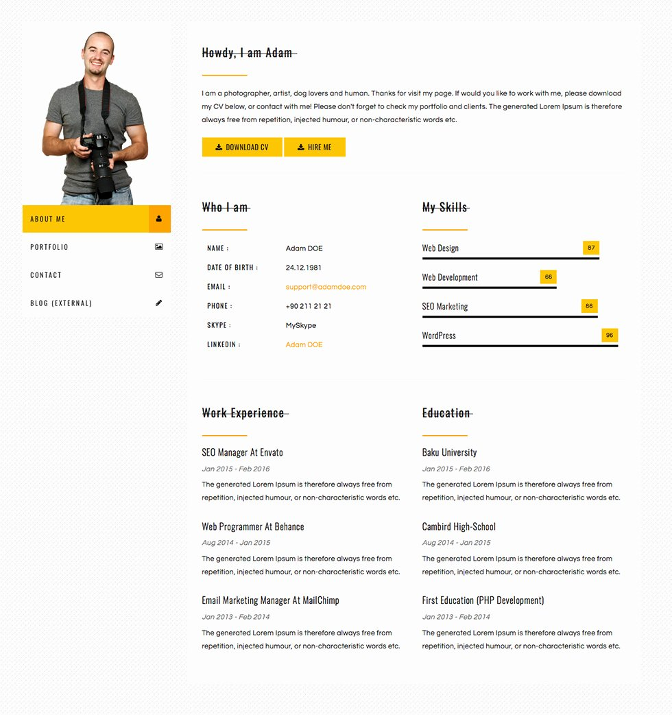 Bootstrap Resume Template Free Best Of Bootstrap Resume Template Eezee Merce