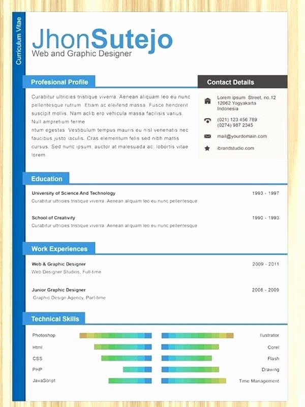 Bootstrap Resume Template Free Inspirational E Page Resume Template Free 9 Templates Premium Download
