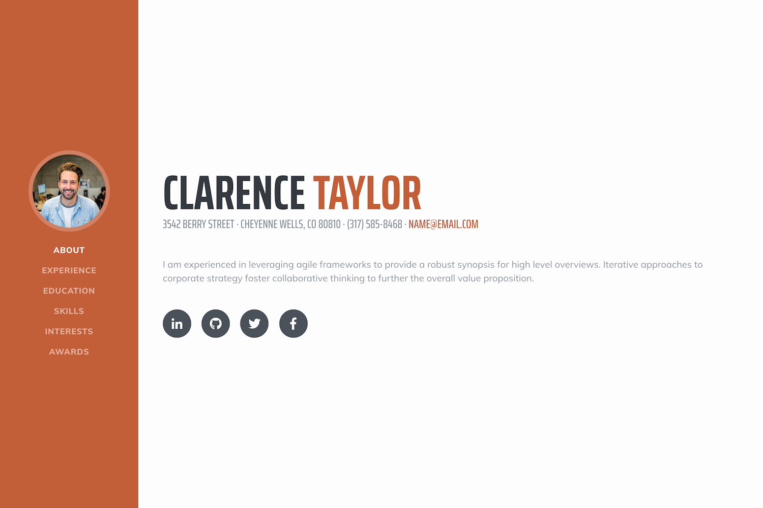 Bootstrap Resume Template Free New Free Bootstrap themes & Templates Start Bootstrap
