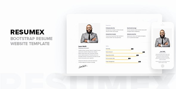 Bootstrap Resume Template Free New Resumex Bootstrap Resume Website Template Tfx Fxtheme