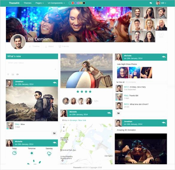Bootstrap social Network Template Awesome 24 social Media Website themes & Templates