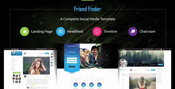 Bootstrap social Network Template Awesome Friend Finder