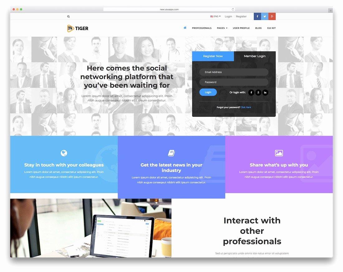 Bootstrap social Network Template Fresh 15 Best Free & Premium Bootstrap social Network Templates