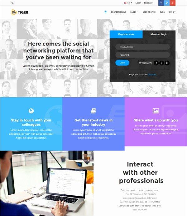 Bootstrap social Network Template Fresh 15 social Network Bootstrap themes & Templates
