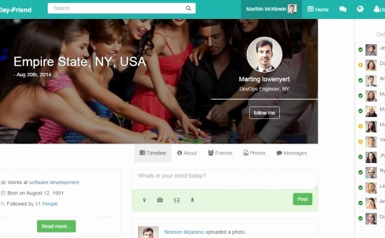 Bootstrap social Network Template Luxury Showcase Of Bootstrap themes and Templates Css Js